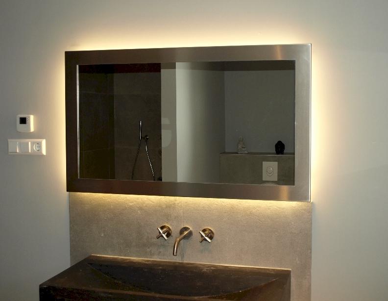 Badkamerspiegel Op Maat Spiegels Voorbeelden