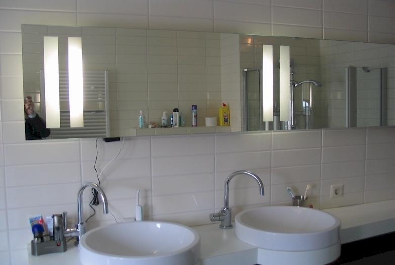 Spiegelverlichting badkamer karwei idee lamp badkamer badkamer