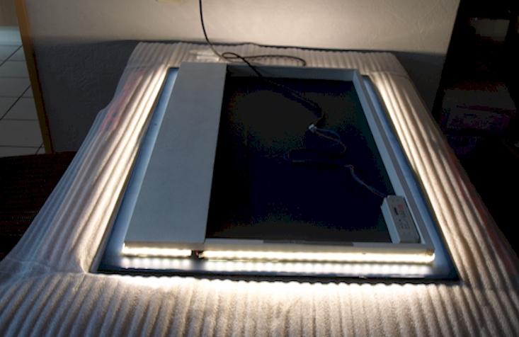 Led spiegel op maat opbouw for Ronde spiegel op maat