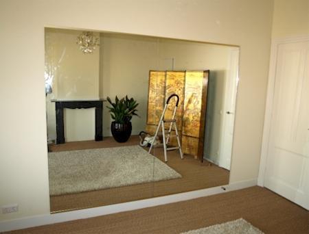 spiegelwand voorbeelden spiegelwand voor oefenruimte bij