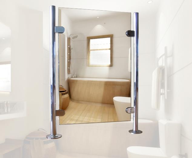 badkamerspiegel op maat exclusieve vrijstaande badkamerspiegel