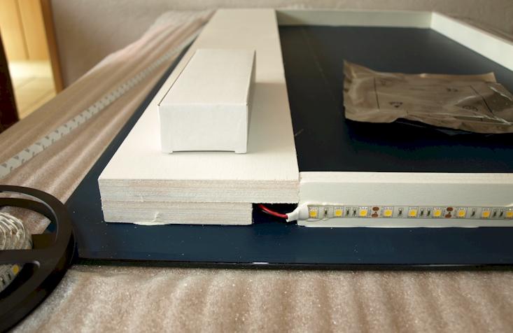 LED spiegel op maat opbouw