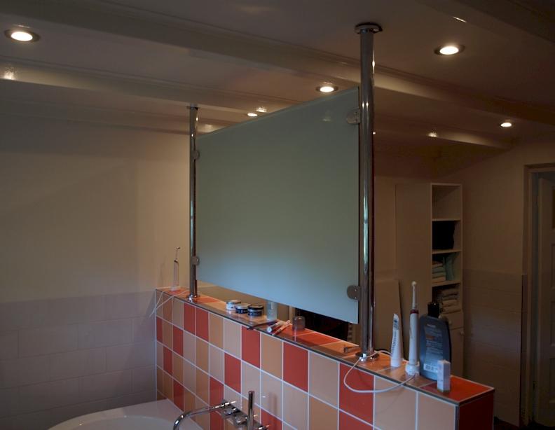 Muurtje in badkamer latest zwarte bakstenen muur with muurtje in