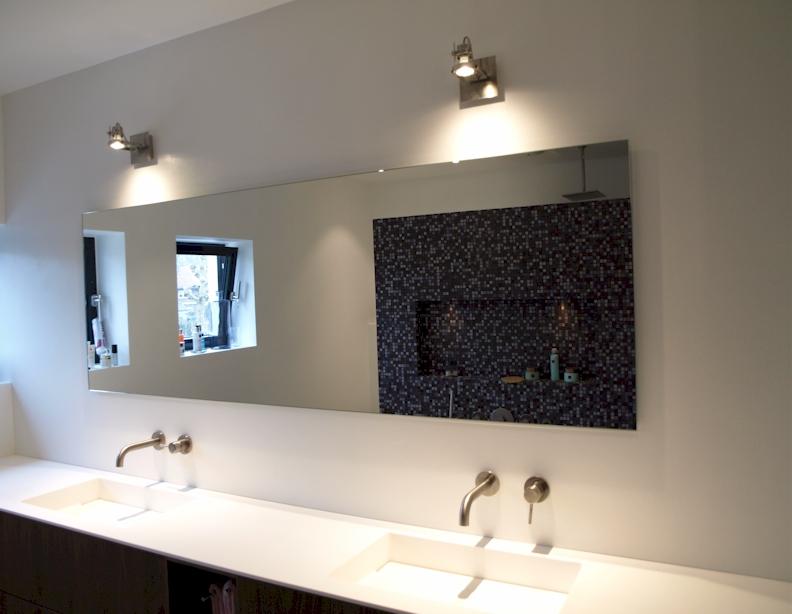 Badkamerspiegel op maat - voorbeelden