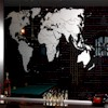 etched image of world map on mirror