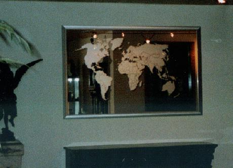 Mirror wall mirrors impressions gallery sandblasted image of world map on a mirror gumiabroncs Images
