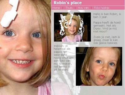 Vision2Form Webdesign - Prive pagina, Robin's place